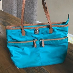 Michael Kors Teal Kempton Bag